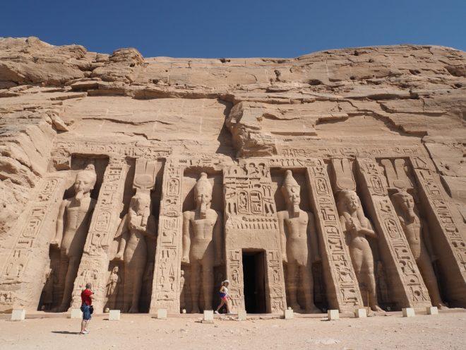 Le temple d'Abu Simbel, en Egypte