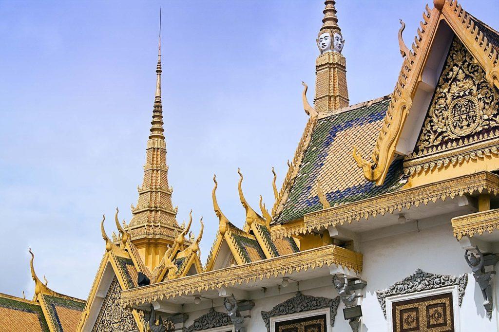 Le Palais royal, à Phnom Penh (Cambodge)