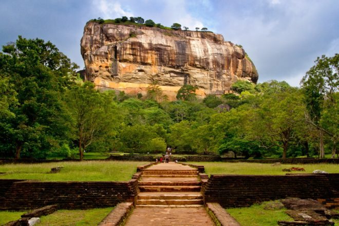 Le site archéologique de Sirigiya, au Sri Lanka.