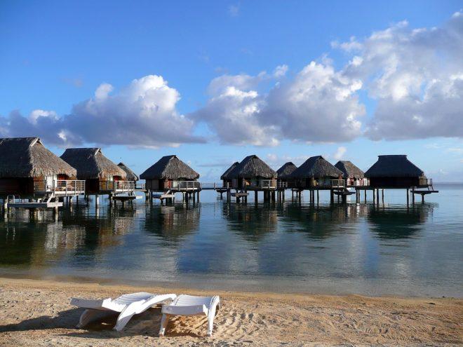 Une station balnéaire à Tahiti.