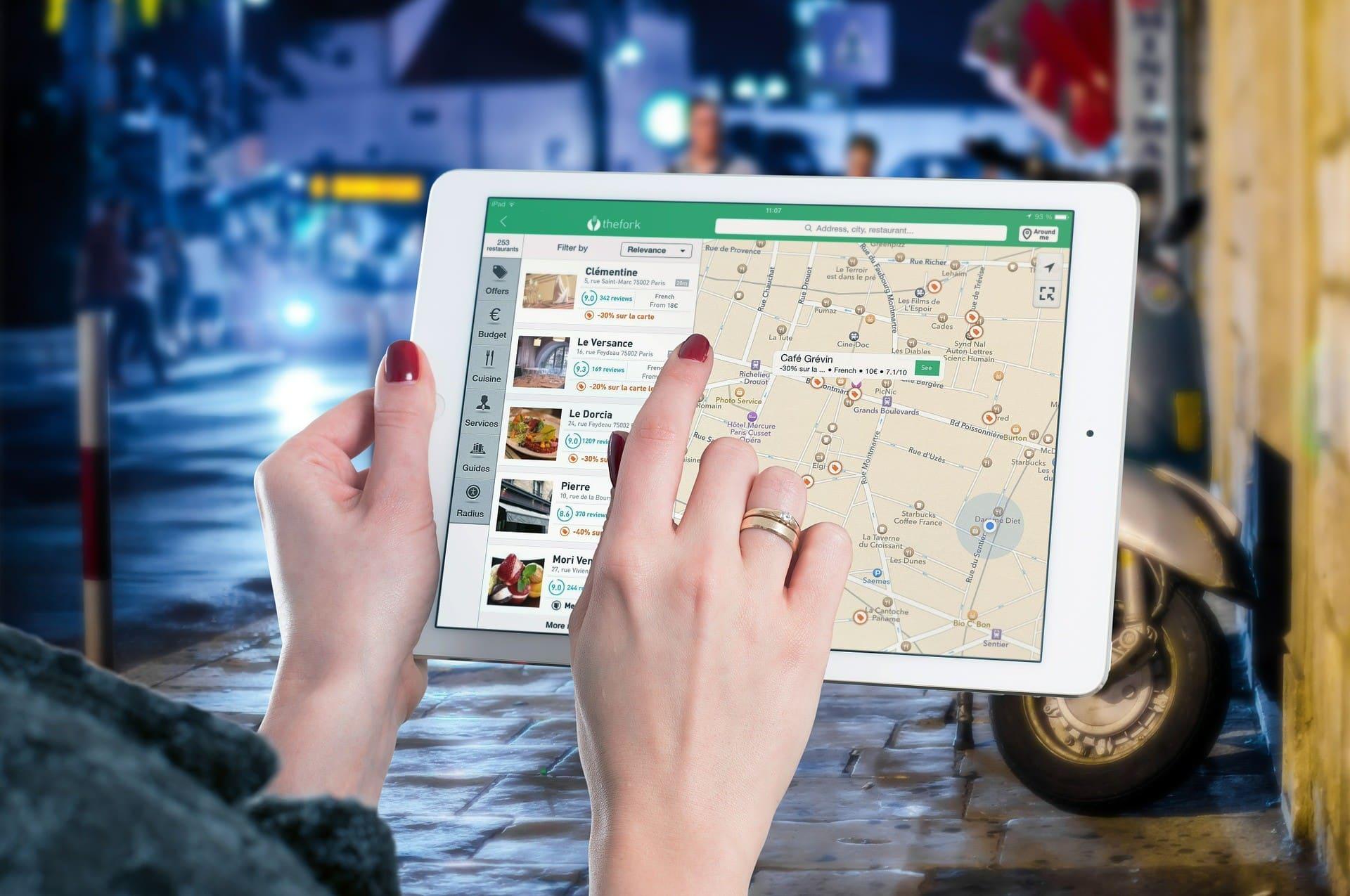 Illustration. Une application de cartographie utile aux voyageurs.