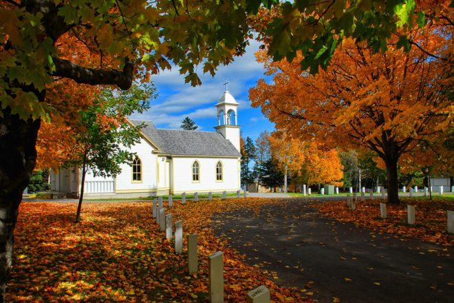Illustration. Le Canada en automne.