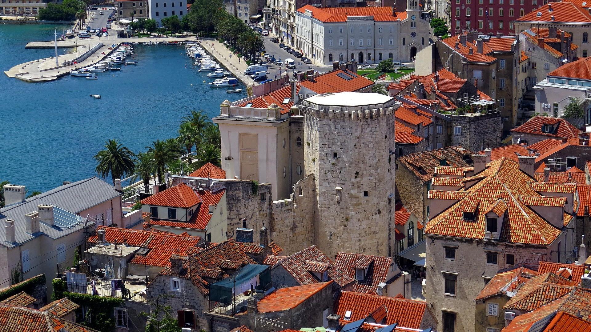 La ville de Split, en Croatie.