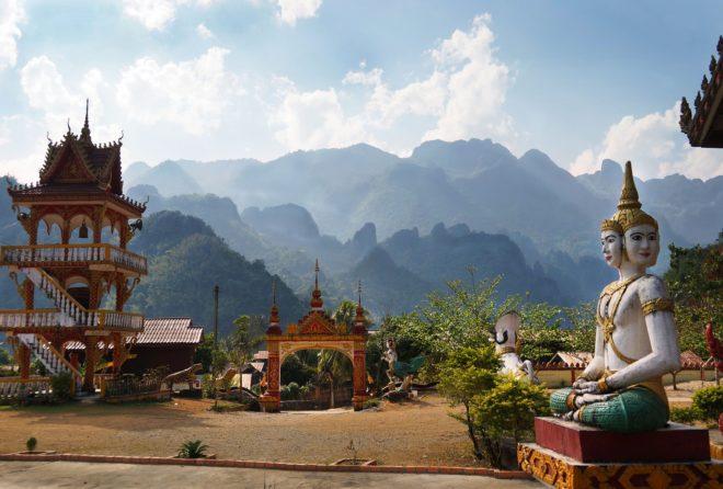 Vang Vien, au Laos.