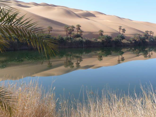 Une oasis en Libye.