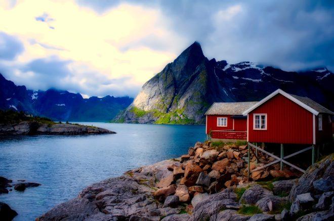 Paysage de Norvège.