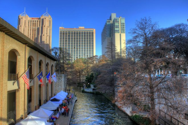 Vue de San Antonio, au Texas.