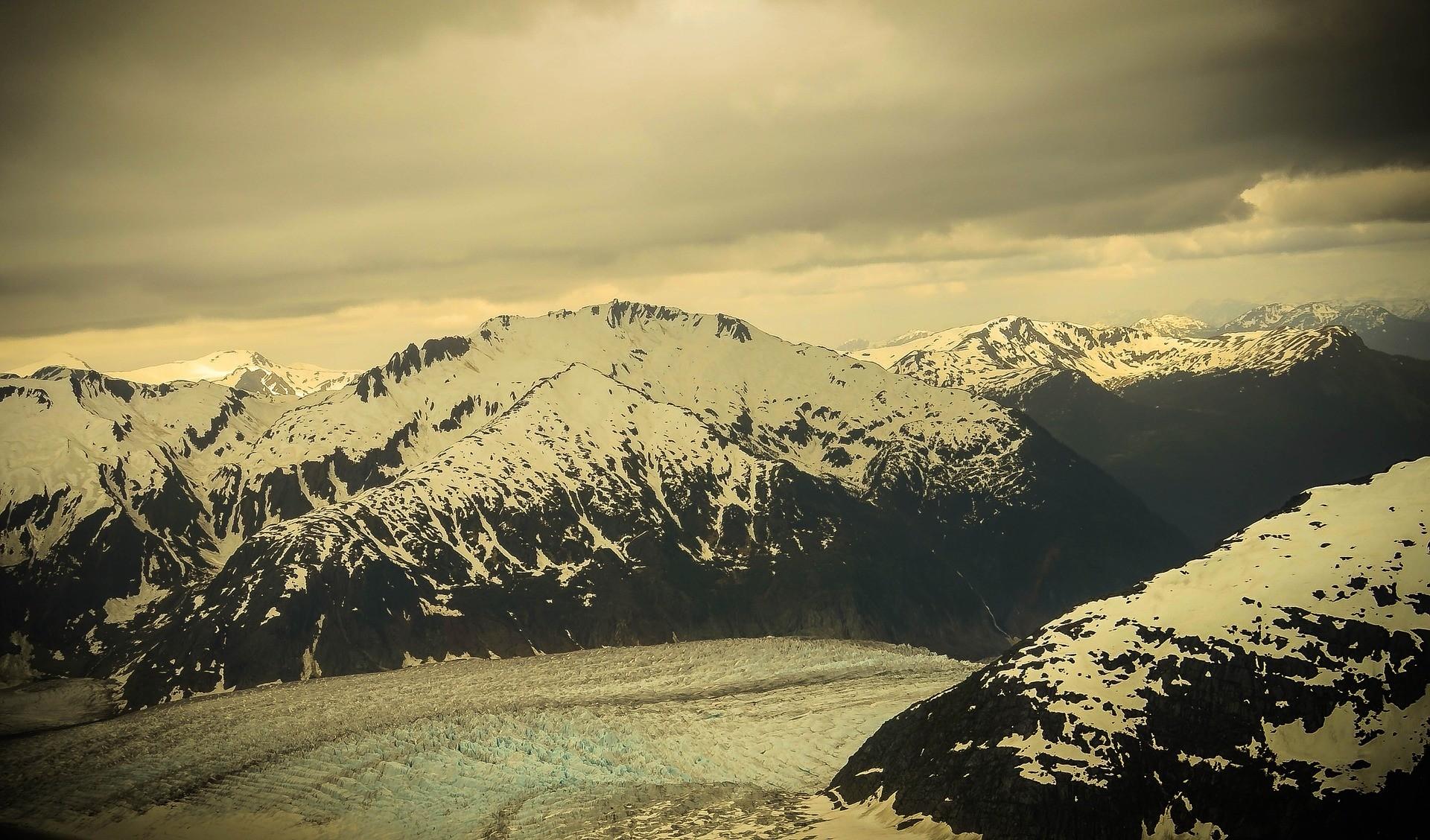 Le glacier Mendenhall en Alaska.