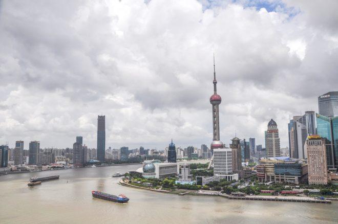 Vue de Shanghai, quartier des affaires.