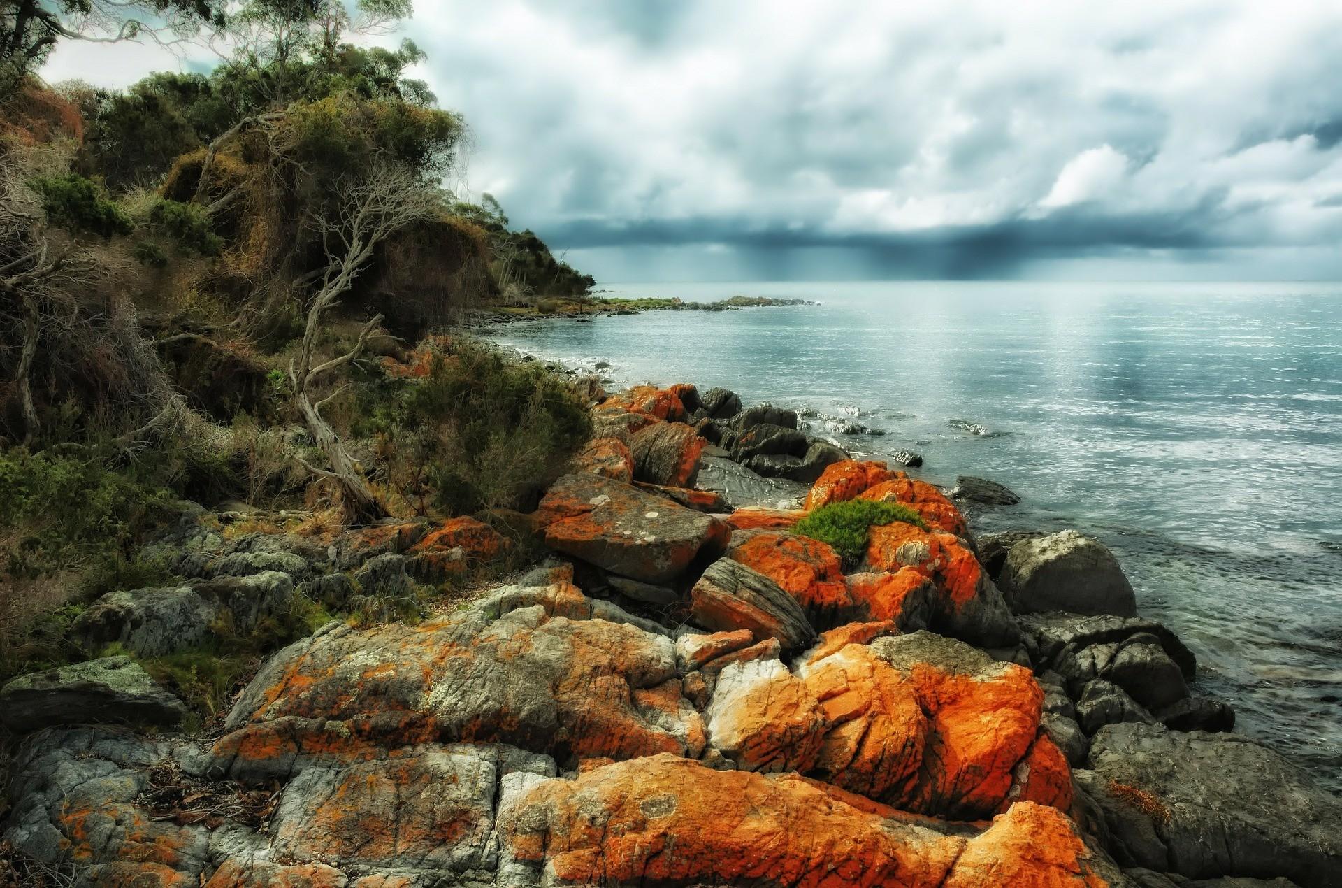 Un paysage de Tasmanie.