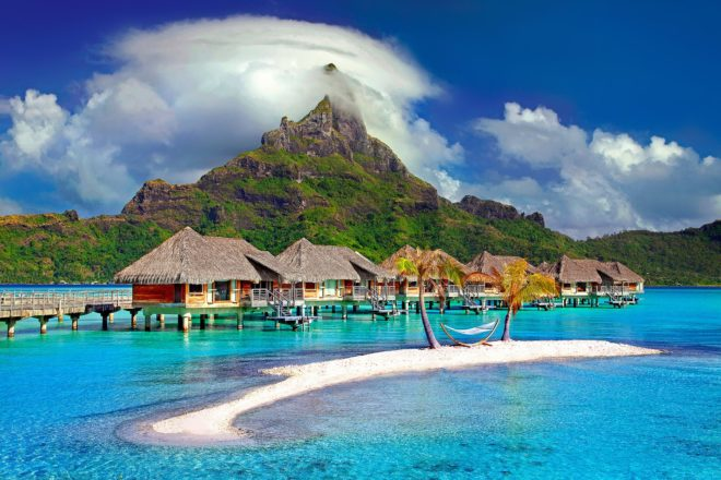 Bora-Bora, au nord-ouest de Tahiti.