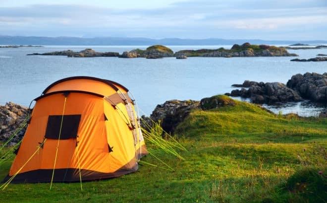 Le camping en pleine nature.