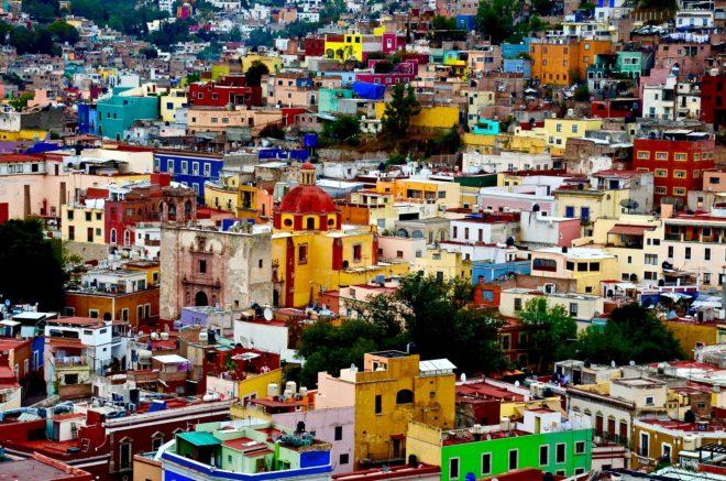 La ville de Guanajuato, au Mexique