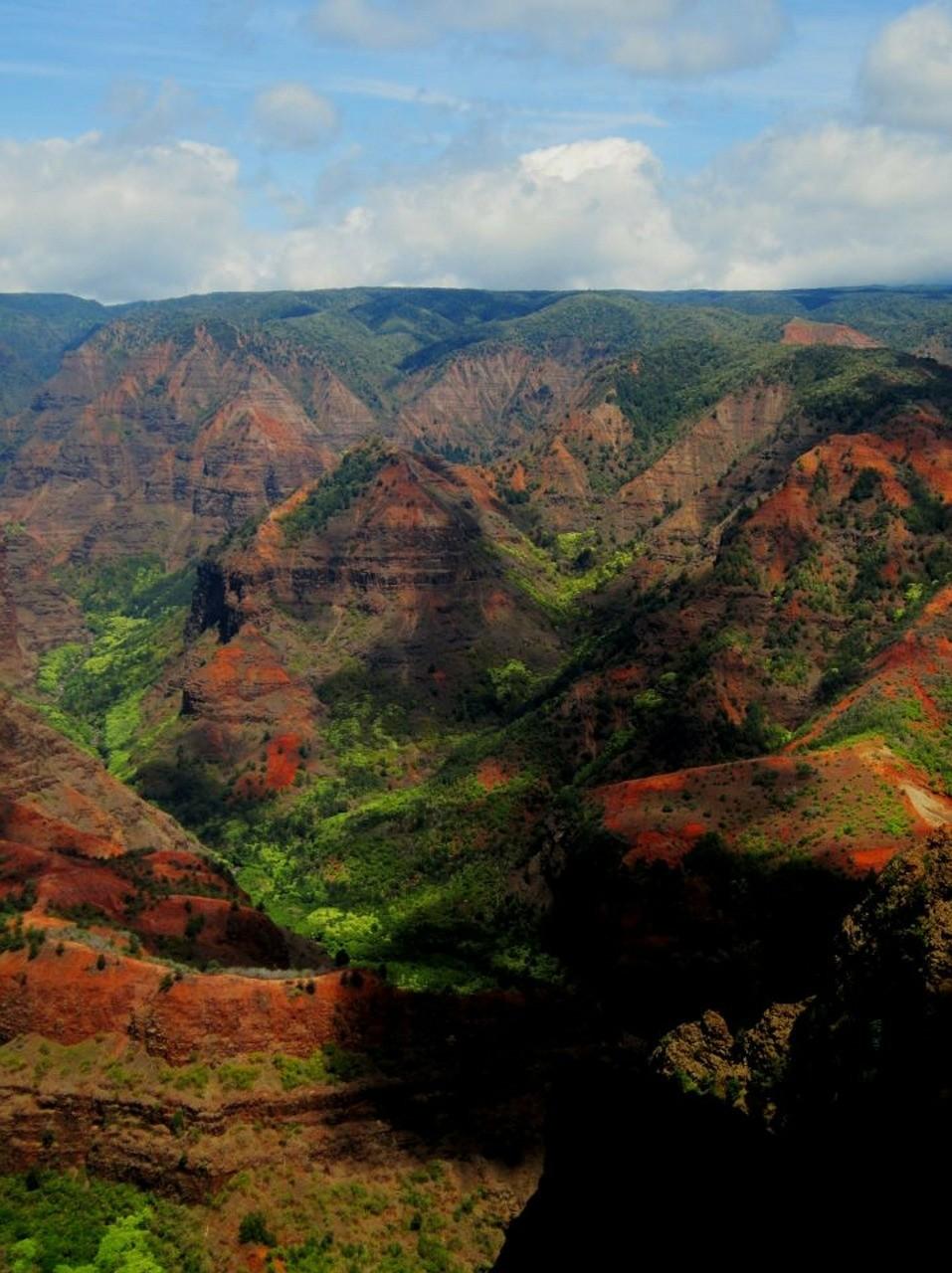 Waimea Canyon, archipel d'Hawaii.