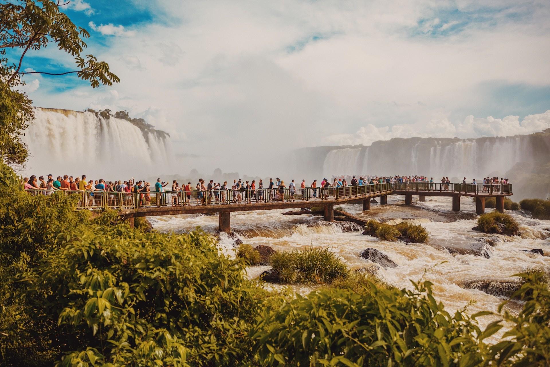 Les chutes d'Iguazu, au Brésil