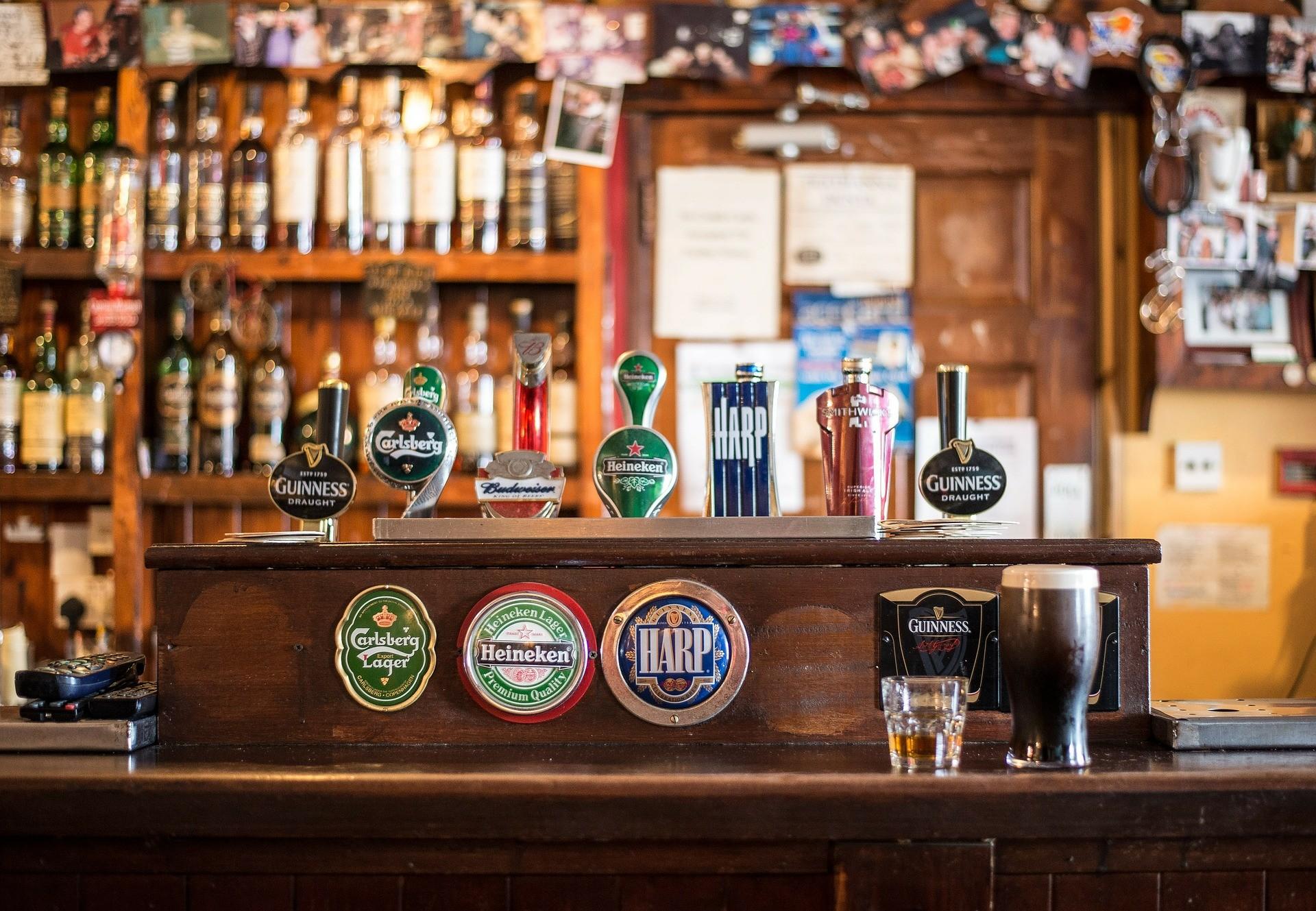 Un pub irlandais typique.