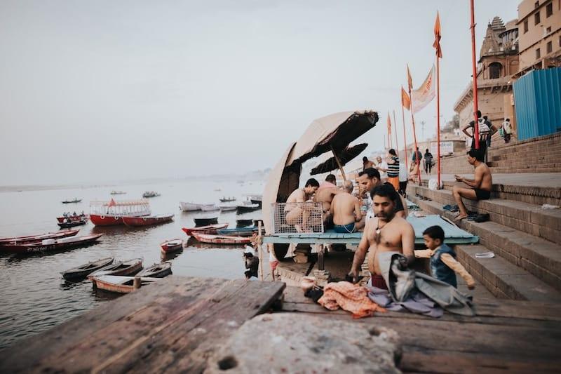 Varanasi, en Inde.