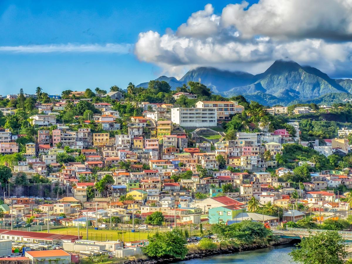 Les collines de Fort-de-France, en Martinique.