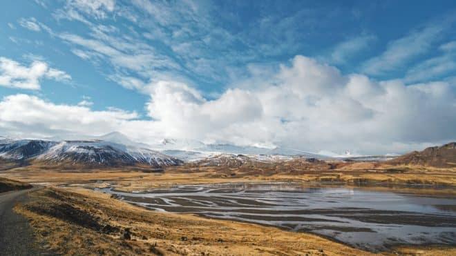 Un paysage d'Islande.