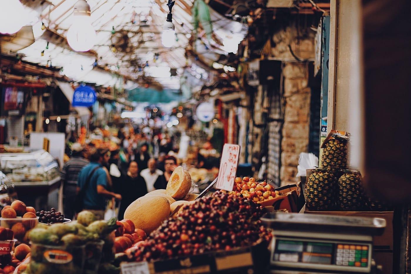 Le marché Machane Yehuda, à Jerusalem.