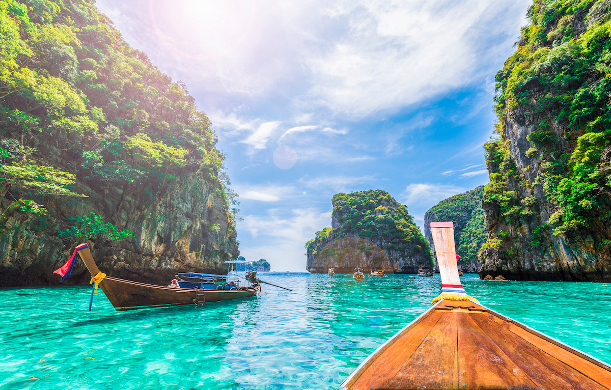 Loh Samah Bay, île de Phi Phi, Thaïlande.