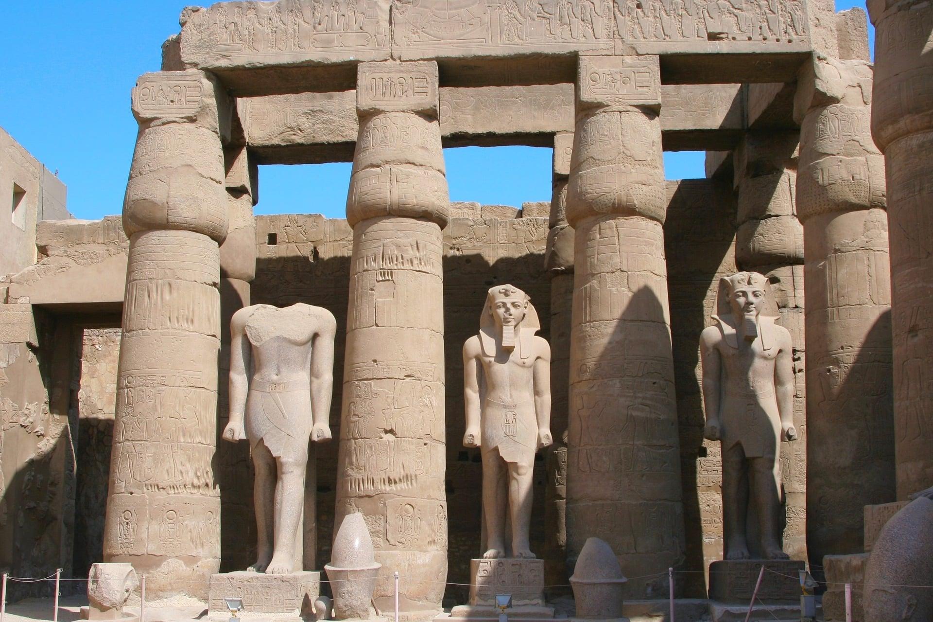 Le Temple de Karnak, en Egypte.