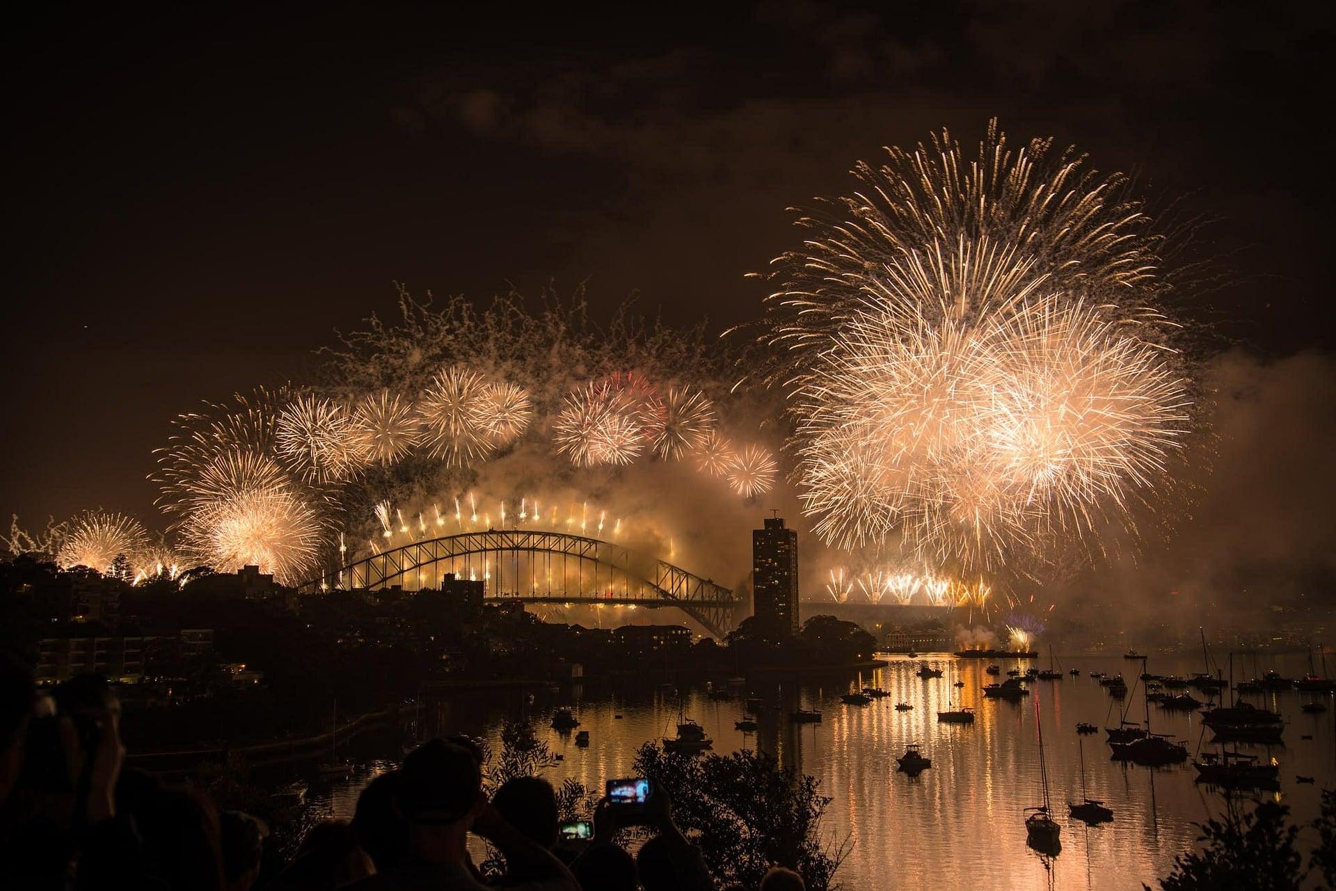 Le passage à la nouvelle année à Sydney en 2015