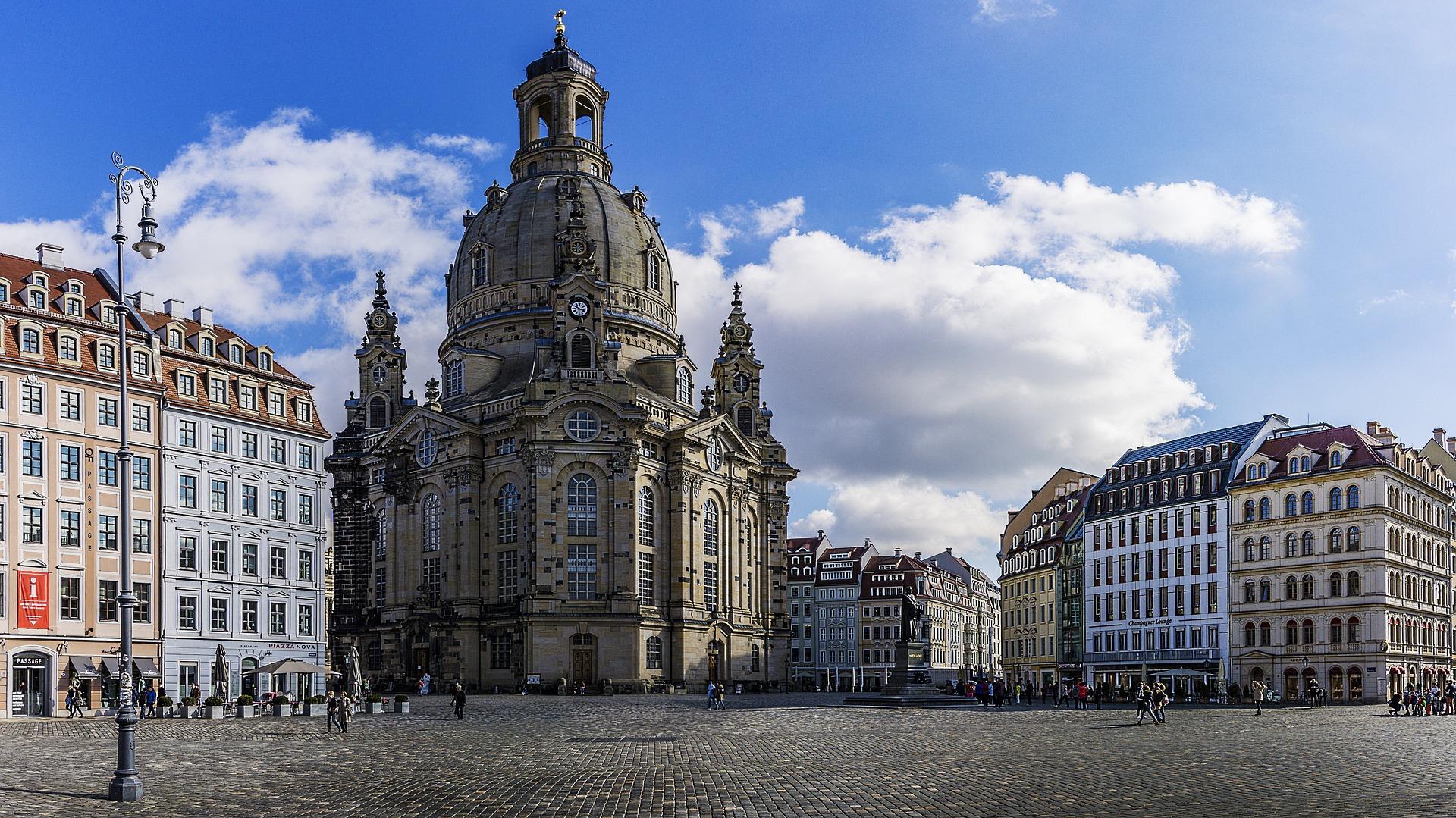 Frauenkirche, à Dresde (Allemagne).