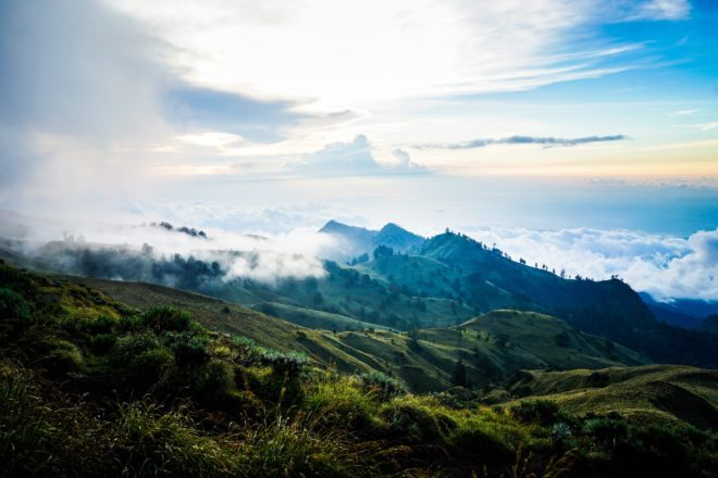 Mont Rinjani, Indonésie.